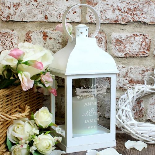 Couple's Floral White Lantern